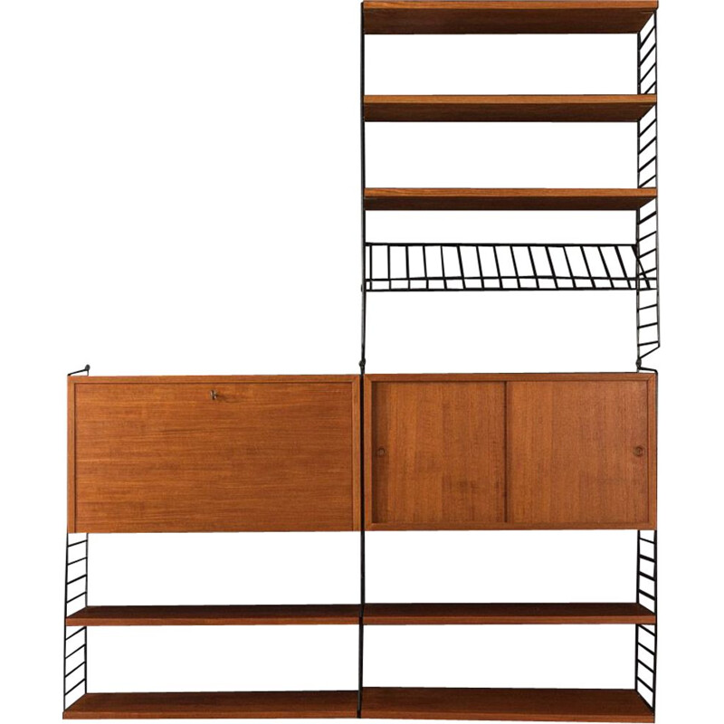 Vintage Wall Unit Nils Strinning 1950s