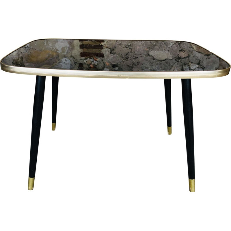 Vintage coffee table in plexiglas and formica 1960s