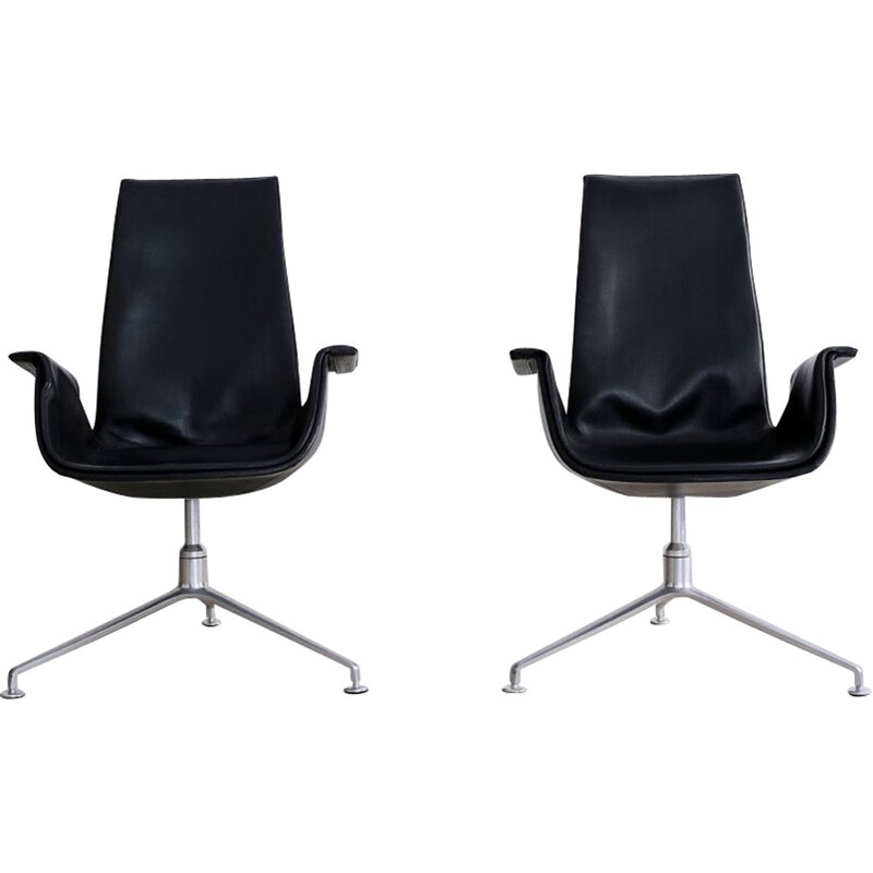 Pair of Vintage Tulip Armchair FK 6725 by Preben Fabricius & Jørgen Kastholm for Alfred Kill 1964