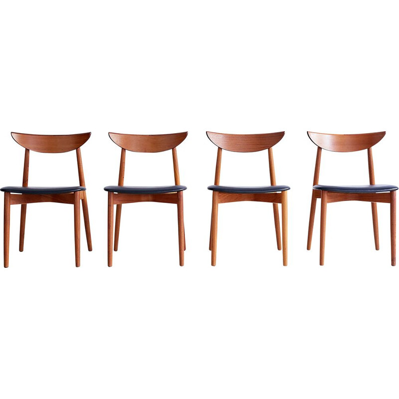 4 vintage chairs by Peter Hvidt, 1960