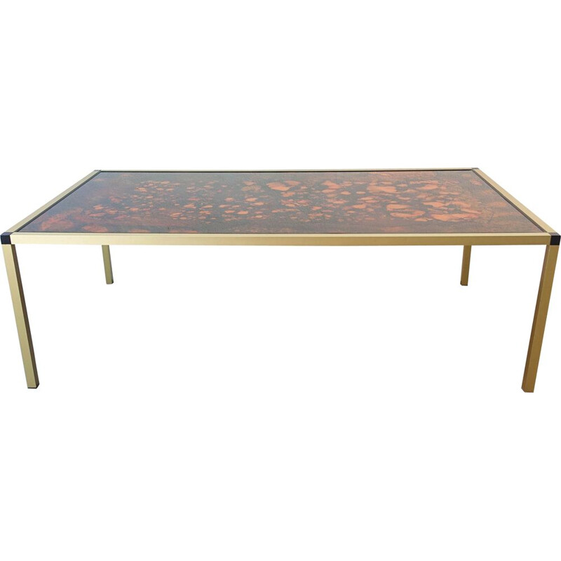 Vintage patterned lava coffee table, Denmark 1970
