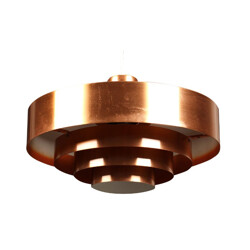 Fog and Morup hanging lamp in copper, Jo HAMMERBORG - 1960s