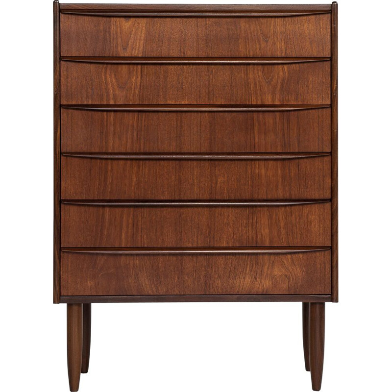 Vintage teak chest of drawers with 6 drawers, Denmark 1960