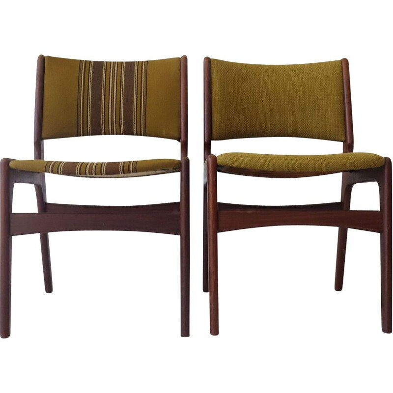 Pair of vintage mahogany chairs Danish