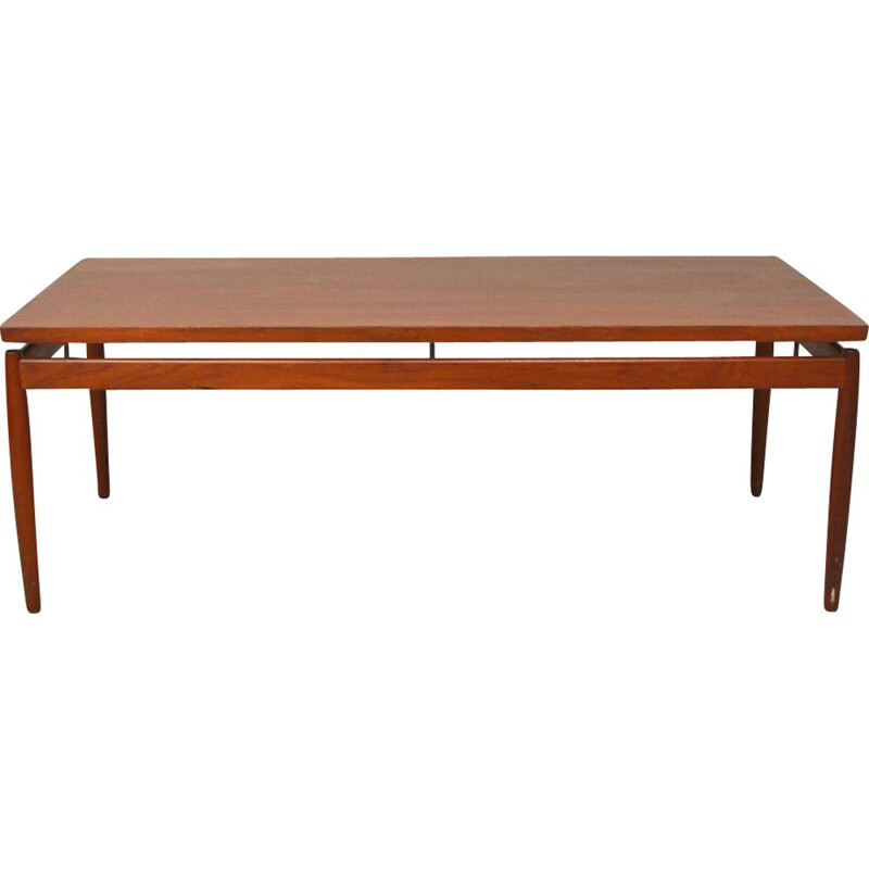Vintage teak coffee table by Grete Jalk for France & Son, Denmark 1960