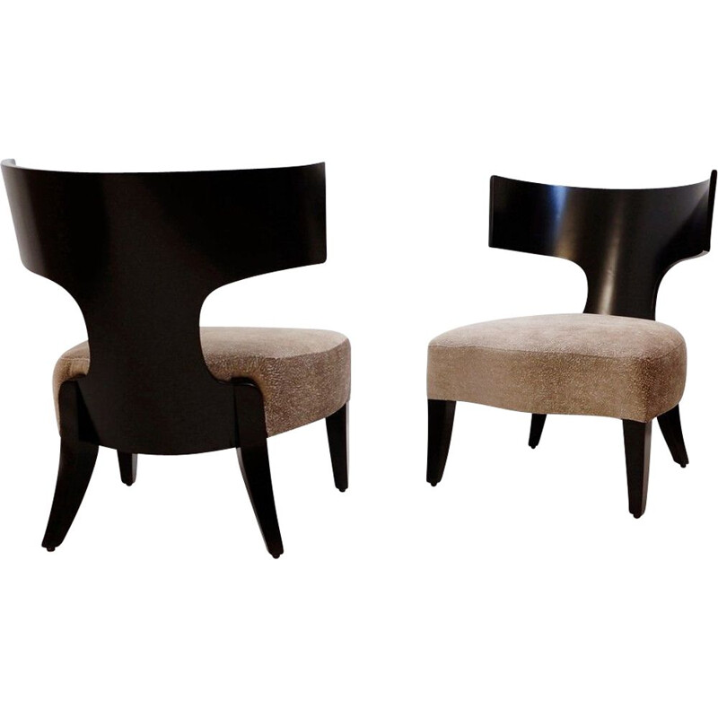 Pair of vintage lounge armchairs by Christian Liaigre