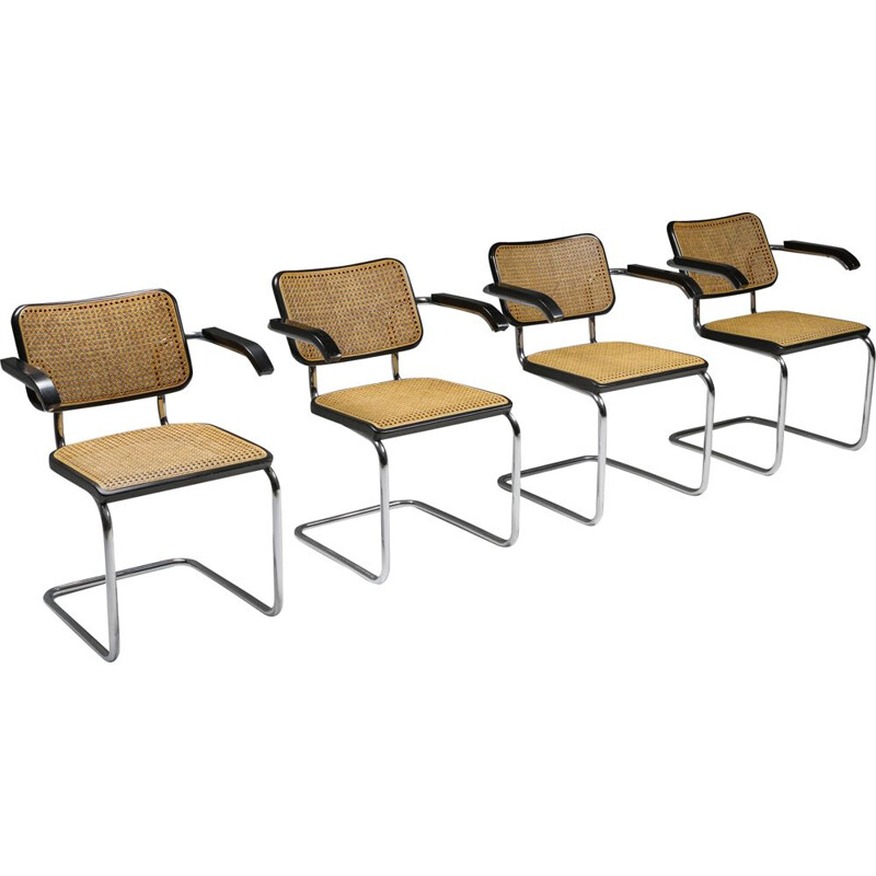 Set of 4 vintage Cesca Dining Chairs Marcel Breuer for Thonet 1992s