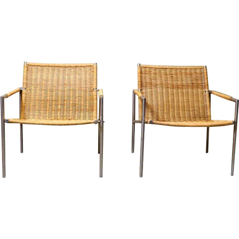 Pair of vintage Martin Visser Lounge Chair For T Spectrum 1960s