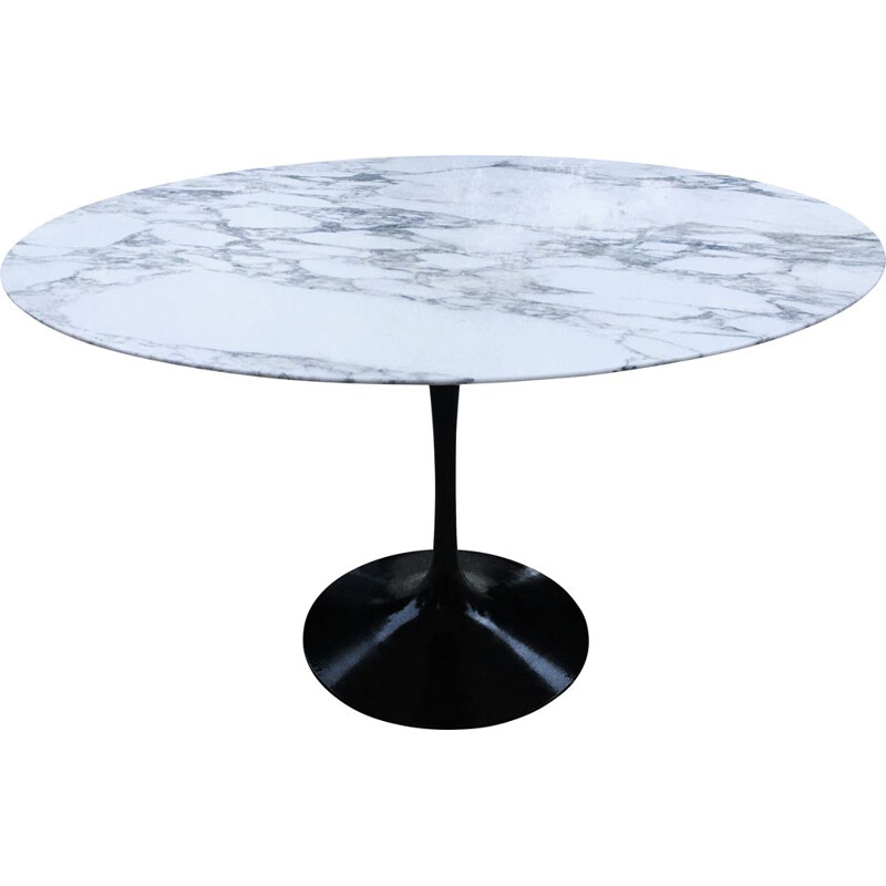 Vintage tulip marble dining table, Eero Saarinen for Knoll
