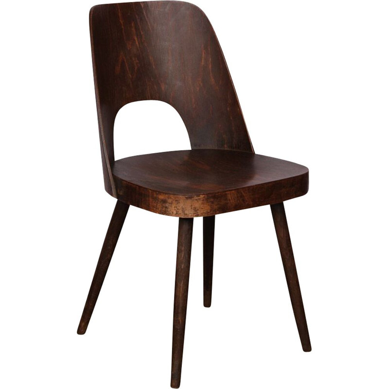 Vintage wooden chair by Oswald Haerdtl for Ton 1960s