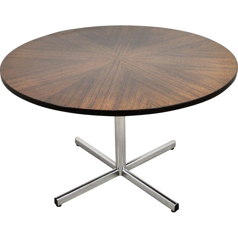 Vintage Round Dining Table by Ico Parisi for MIM 1950s