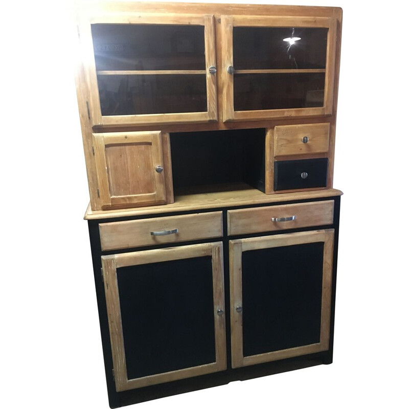 Vintage Mado highboard 2 bodies in pine