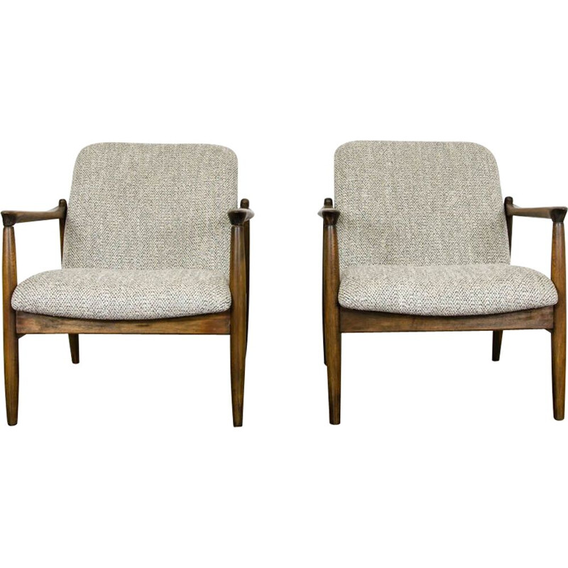 Pair of vintage armchairs GFM-64 by Edmund Homa 1960