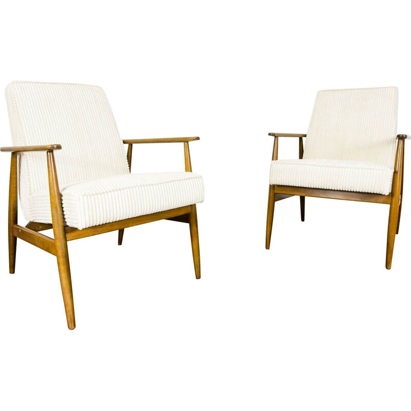 Pair of vintage armchairs by H. Lis, Poland 1960
