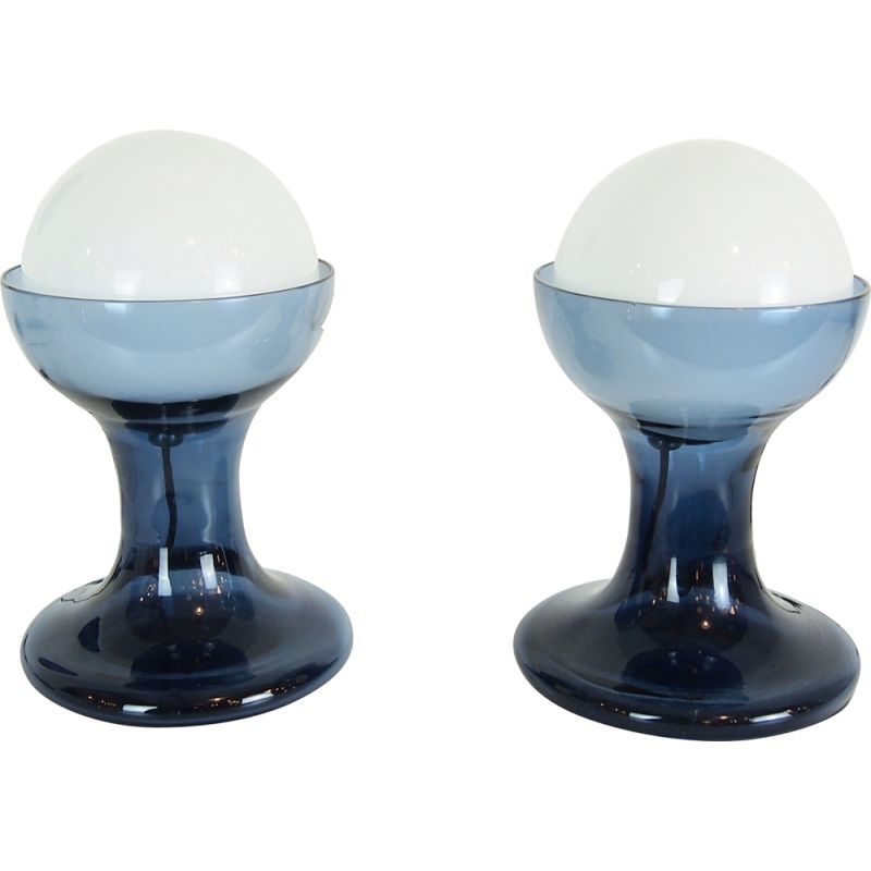 Pair of vintage lamps by Carlo Nason for Mazzega 1968
