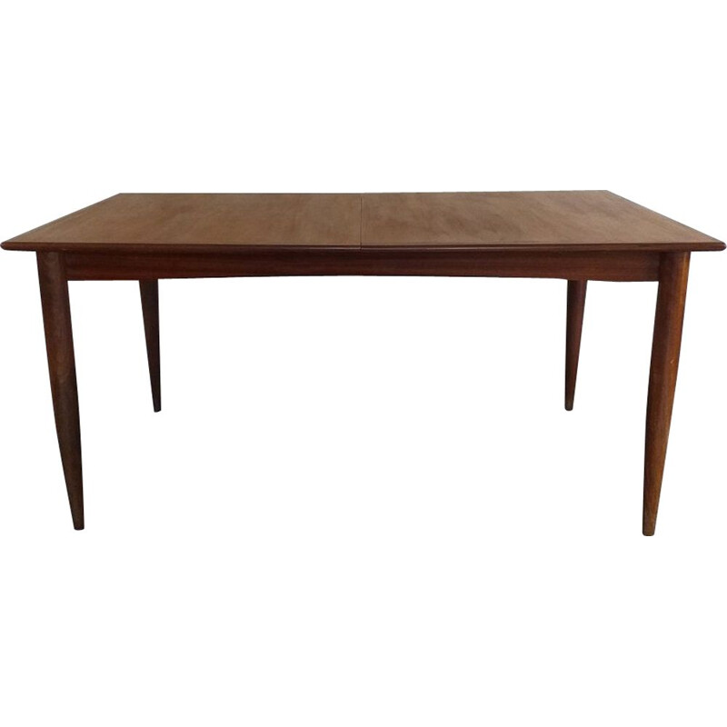 Vintage teak dining table Scandinavian 1960s