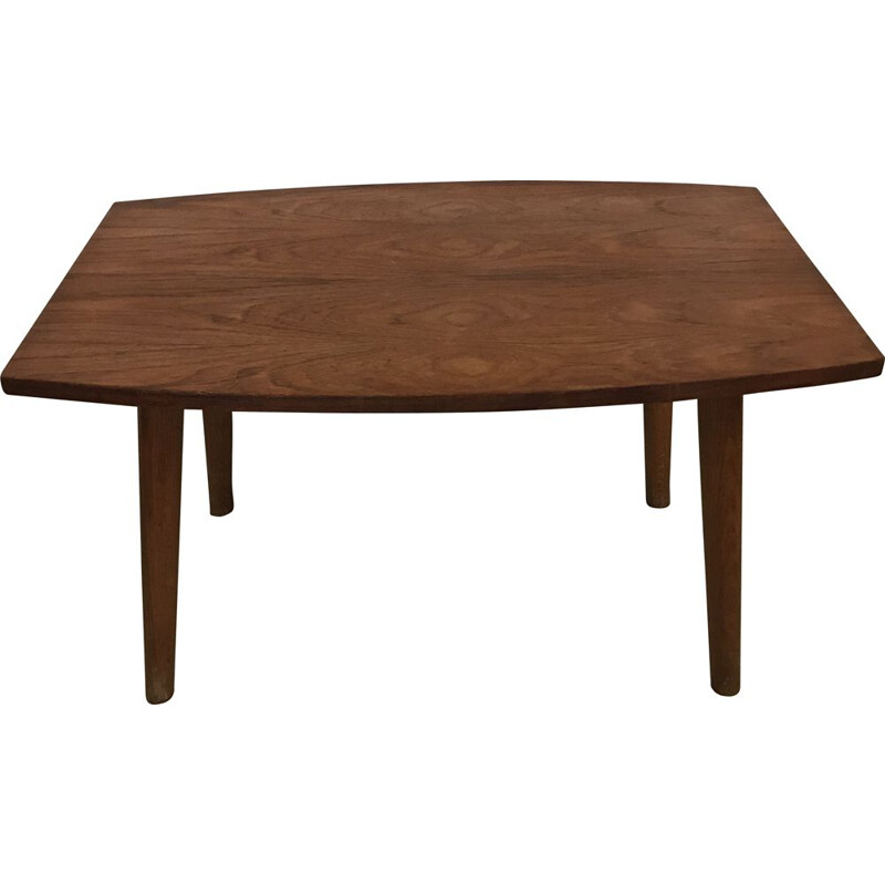 Vintage Small Scandinavian Teak Coffee Table 1960s