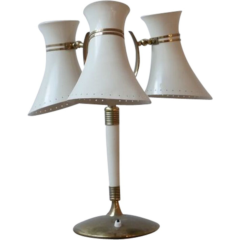 Vintage adjustable table lamp with three lampshades Italy 1960s
