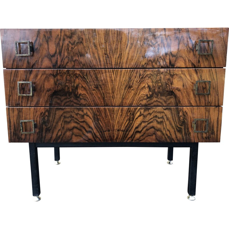 Vintage rosewood chest of drawers 1970s