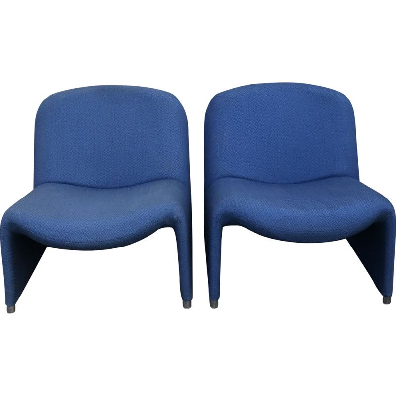 Pair of vintage armchairs by Giancarlo Piretti for Castelli 1969s