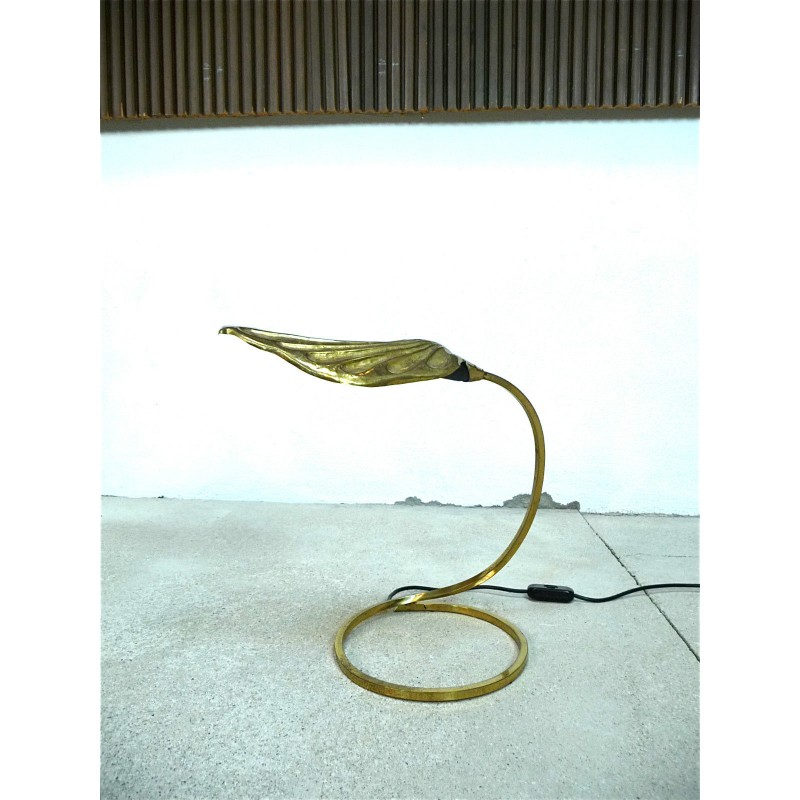 Carlo giorgi golden leaf table lamp in gold colored brass tommaso previous aloadofball Image collections