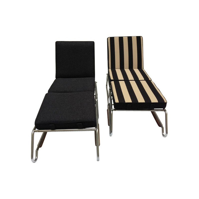 Pair of lounge chairs, François CARUELLE - 50s