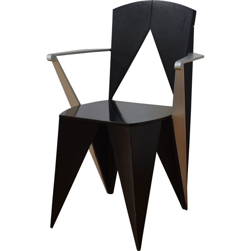 Vintage chair by Adriano and Paolo Suman for Giorgetti 1980s