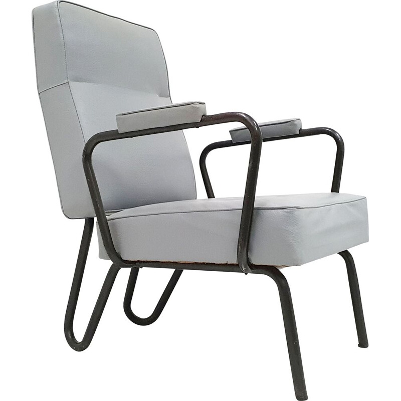 Vintage armchair by Jacques Hitier for Tubauto