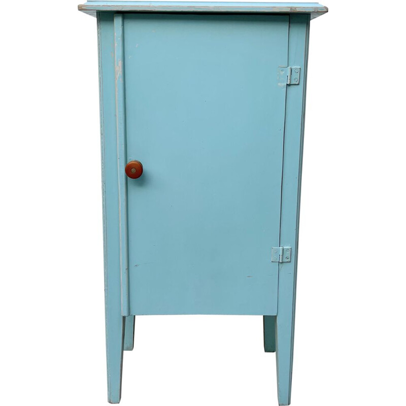 Small Vintage Painted Cabinet 1950s