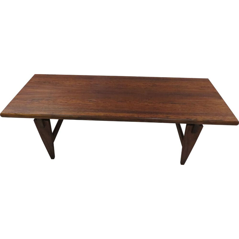 Vintage Illum Wikkelso coffee table in rosewood Scandinavian 1960s