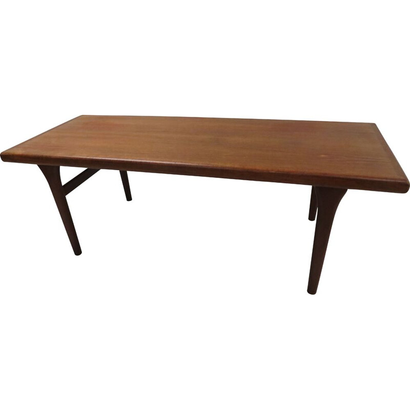 Vintage teak coffee table scandinavian 1960s