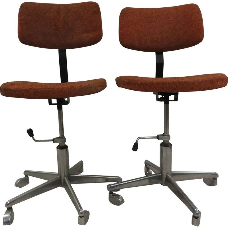 Pair of vintage C.P.A.M office armchairs 1960s