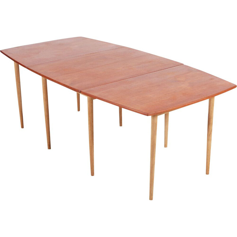 Vintage teak and oak table by Hans J. Wegner for Andreas Tuck 1960s