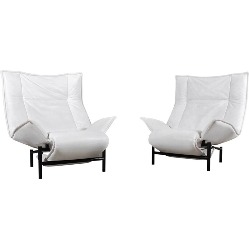 Pair of vintage armchairs Veranda by Vico Magistretti 1983s