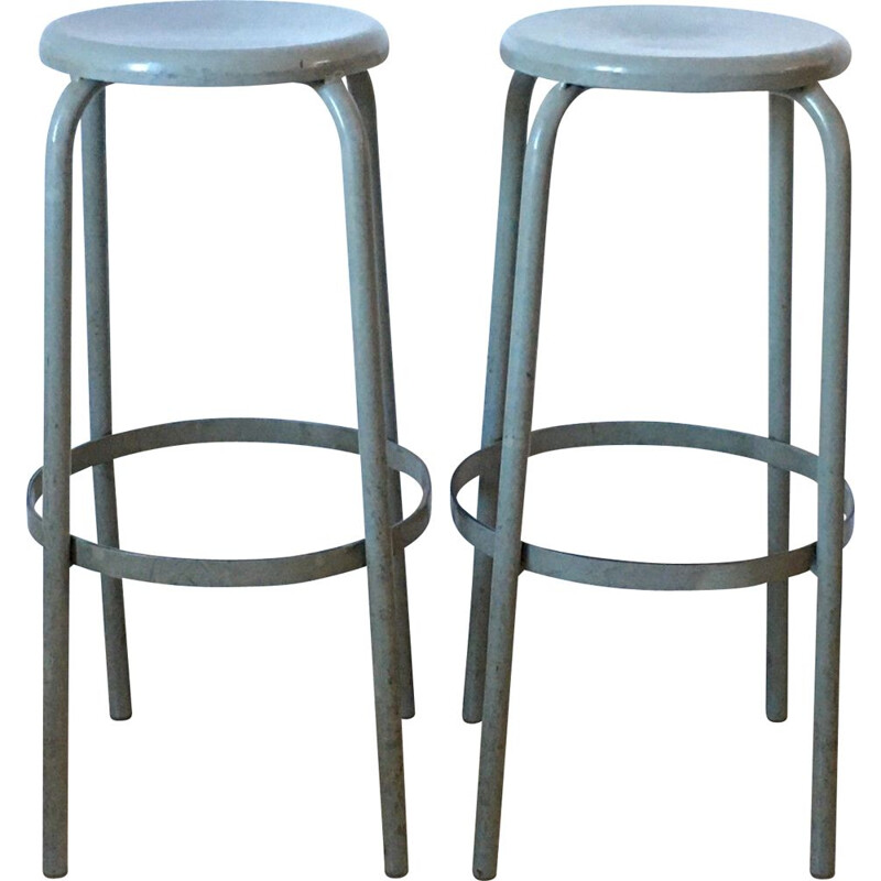 Pair of vintage industrial stools 1970s