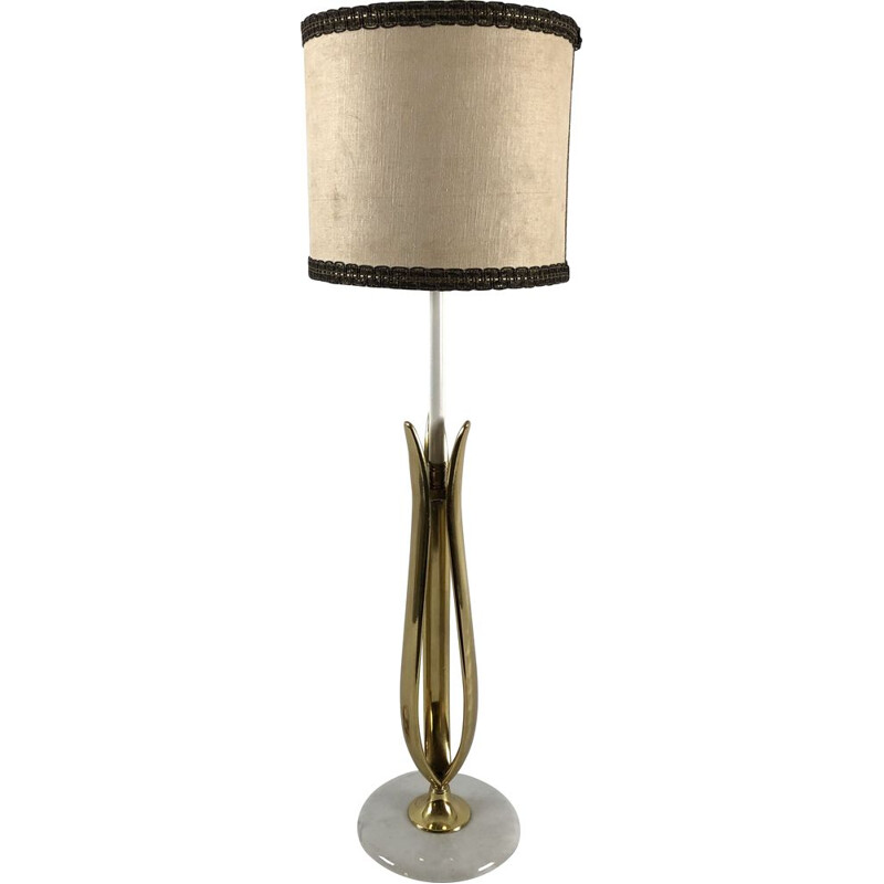Vintage table lamp in marble and brass from Arredoluce, Italy 1950