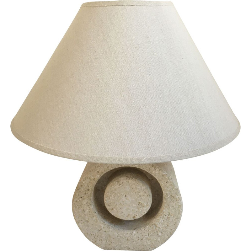 Vintage lamp in carved stone 1970s