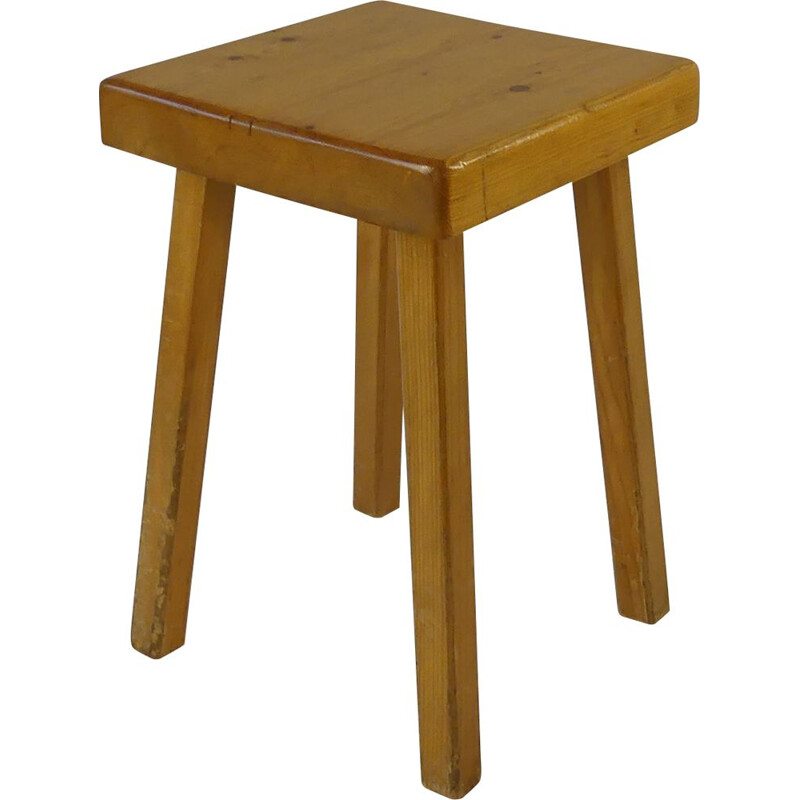 Vintage stool by Charlotte Perriand 1950