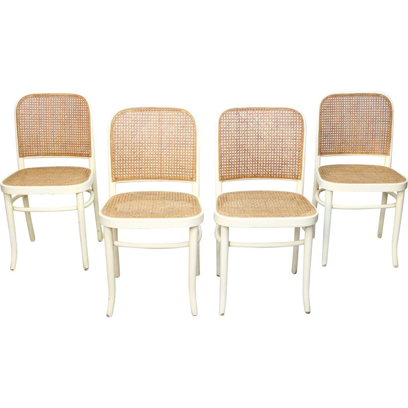 Set of 4 vintage Side Chairs by Josef Hoffmann for Thonet