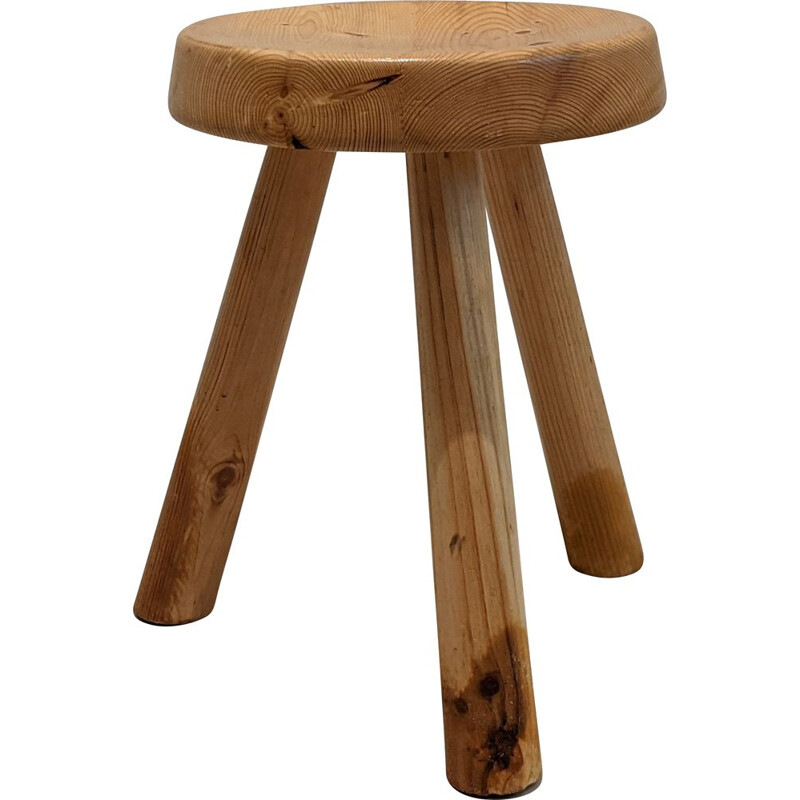 Vintage Charlotte Perriand's stool for Les Arcs