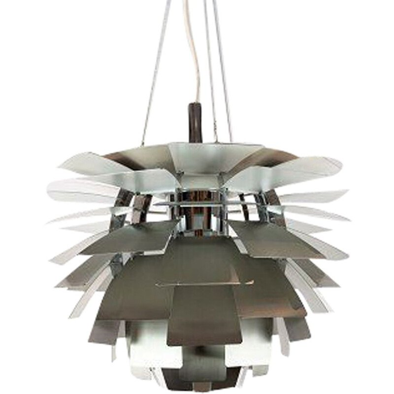Vintage Artichoke suspension in brushed steel by Poul Henningsen 1958s