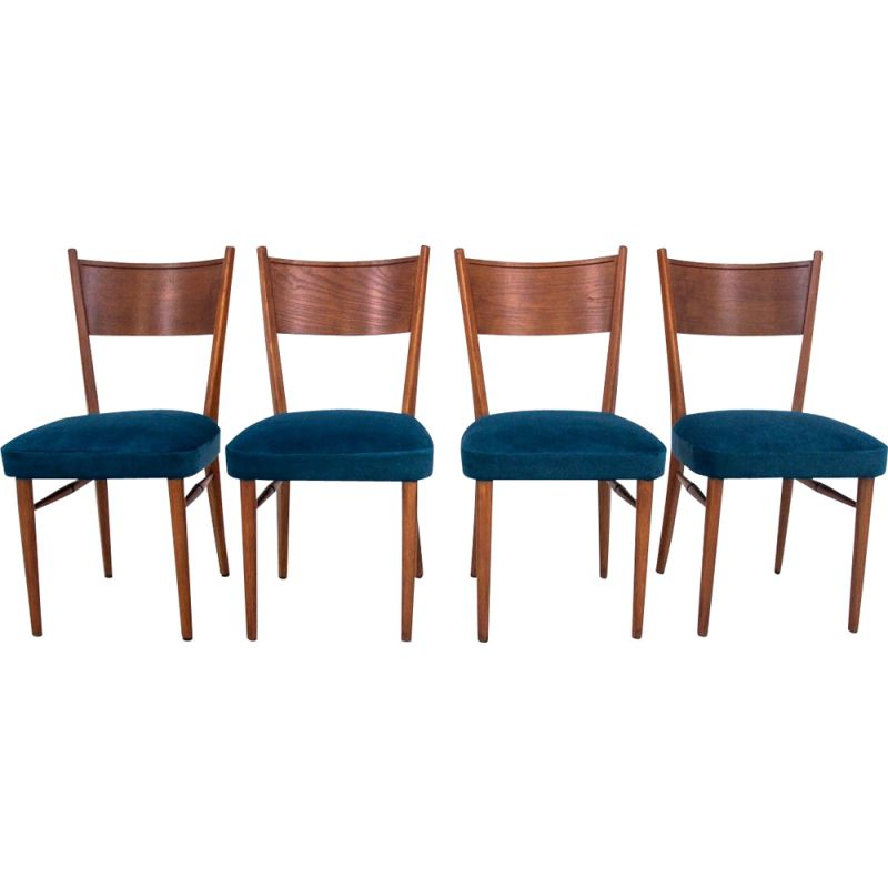 Set of 4 midcentury dining chairs