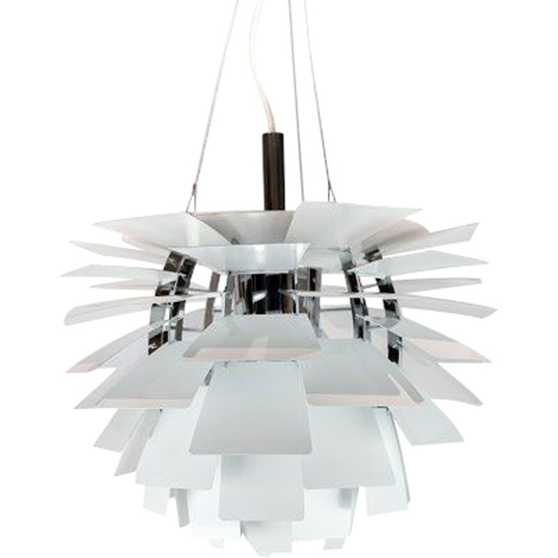 Vintage White suspension artichoke by Poul Henningsen & Louis Poulsen 1958s