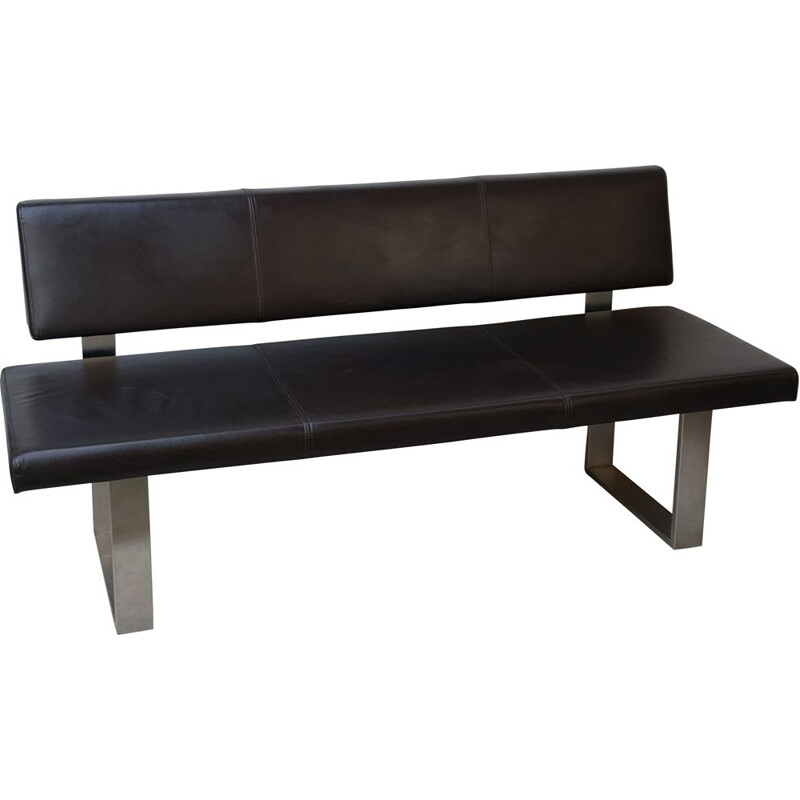 Vintage Leather office bench