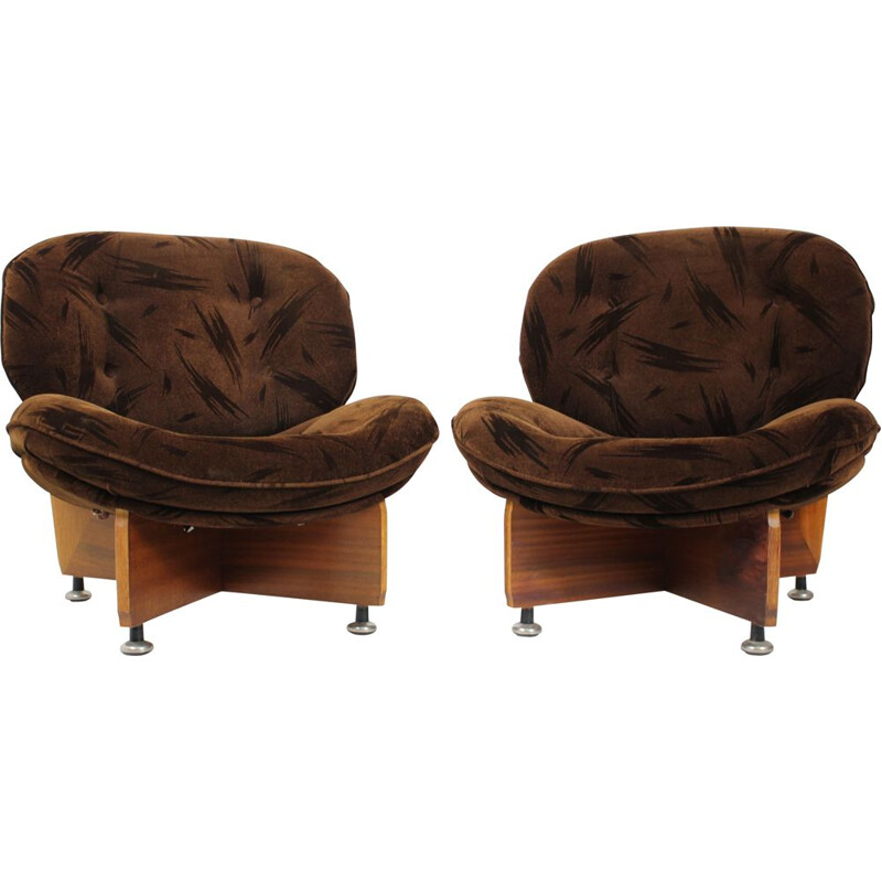 Pair of vintage armchairs German 1970s