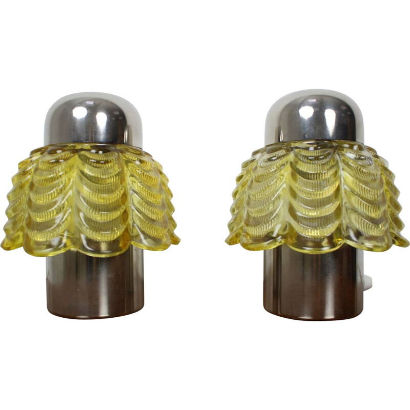Pair of vintage table lamps German 1960s