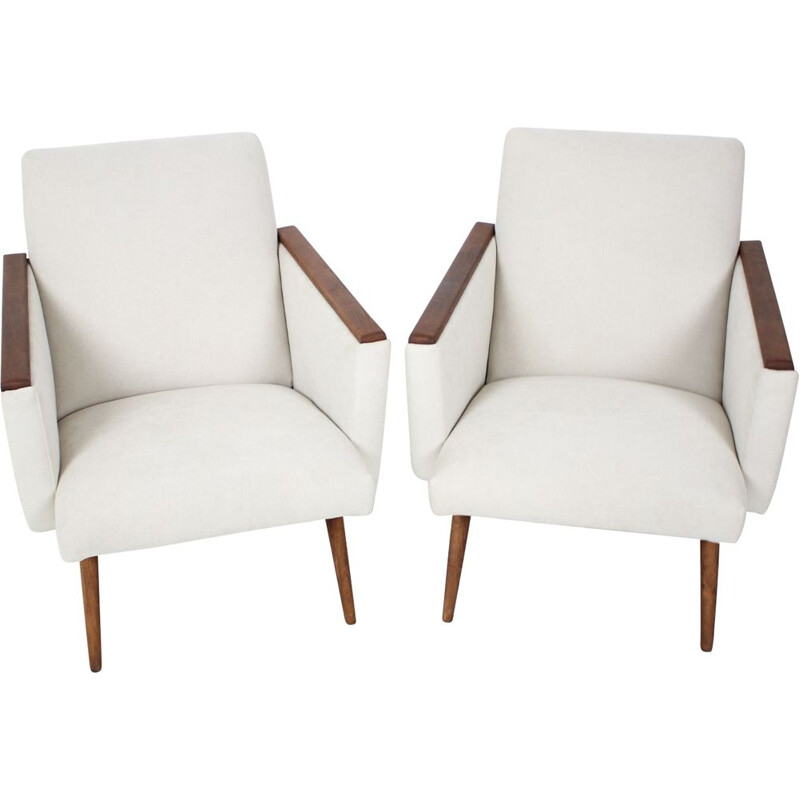 Pair of vintage armchairs Czechoslovakia 1960s