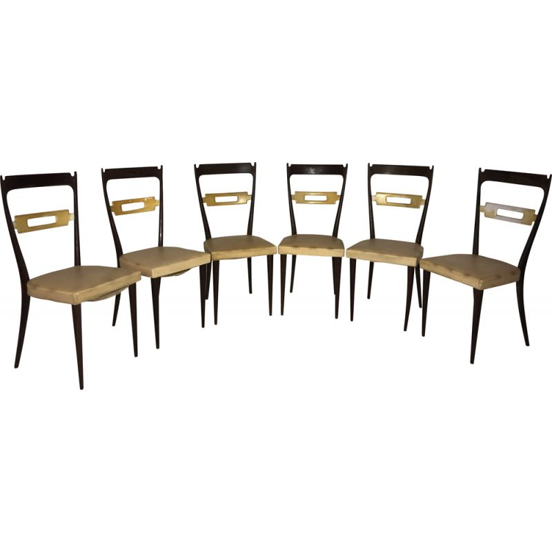 Set of 6 vintage chairs Italian