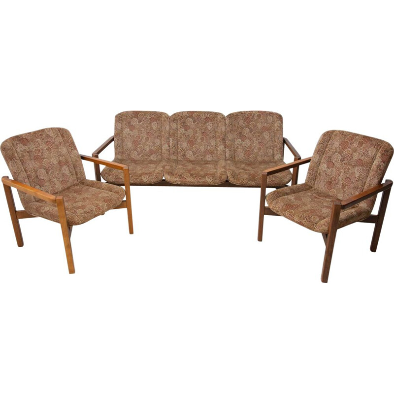Vintage seating group Czechoslovak 1980s