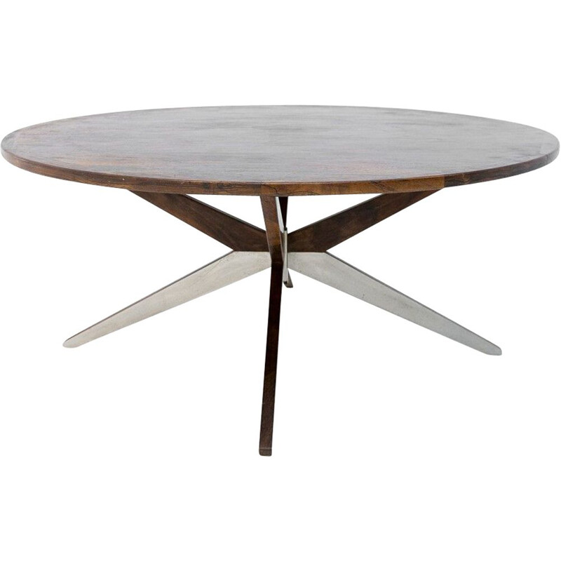 Vintage Rosewood Coffee table on spiders leg Denmark 1960s